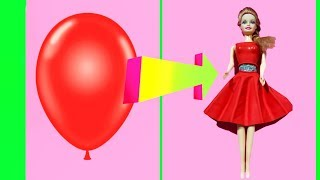 DIY Barbie Dresses with Balloons Making Easy No Sew Clothes for Barbies Creative for Kids #4 Devlin