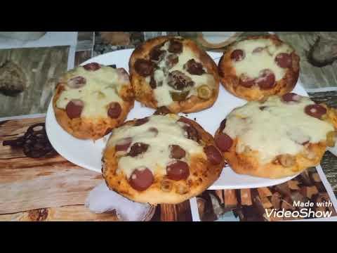 صورة  طريقة عمل البيتزا طريقه عمل البيتزا الميني بحشو داخلي من مطبخ جوجو طريقة عمل البيتزا من يوتيوب