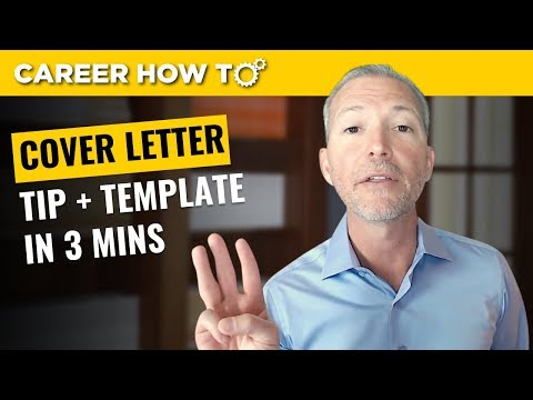 Cover Letter Tip and Template
