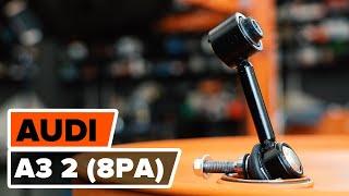 Hoe een achteraan stabilisatorstang vervangen op een AUDI A3 2 (8PA) [HANDLEIDING AUTODOC]