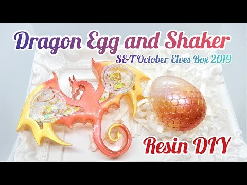 Resin DIY Dragon Egg & Shaker S&T October Elves Box 2019