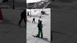 Sidd on the slopes at PCMR