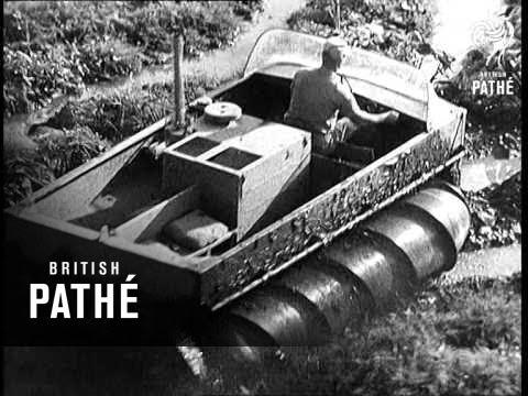 New American Swamp Vehicle - The Marsh Screw Amphibian (1964)