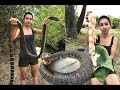 Primitive Technology: Survival skill cooking in the forest | Wilderness technology (1)