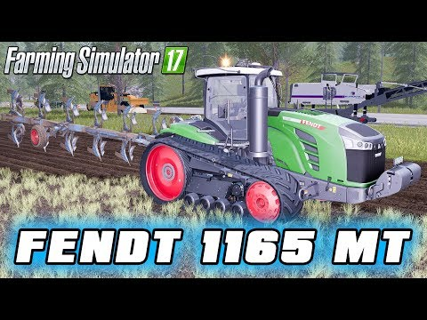 Farming Simulator 2017 Mods - Tractor Fendt 1165 MT With Plow, Truck And Trailer