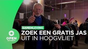 Bewoners Hoogvliet kunnen gratis jas uitzoeken in deze pop-up winkel | Samenleving