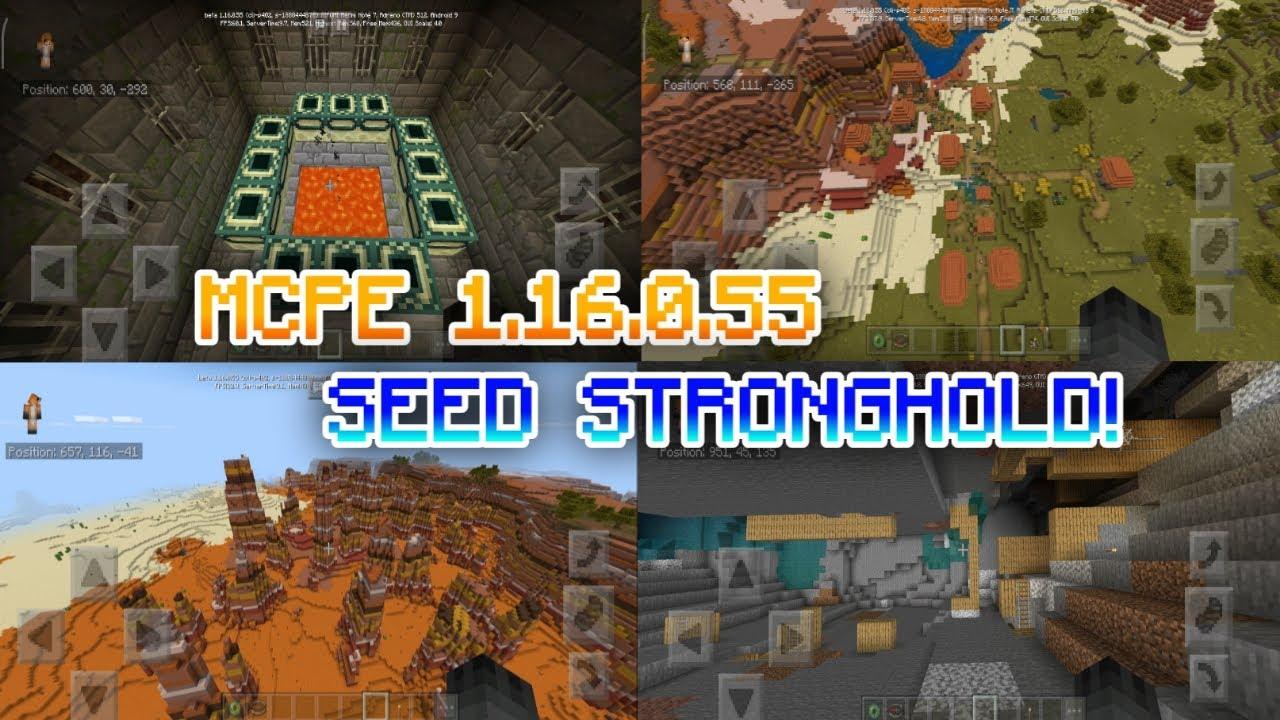 Minecraft Pe 1 16 0 55 Seed Stronghold Mcpe 1 16 0 55 Seed Village Minecraft Pe 2020 Youtube