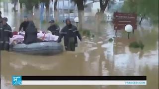 صور مثيرة لفيضانات وسيول تضرب الجزائر