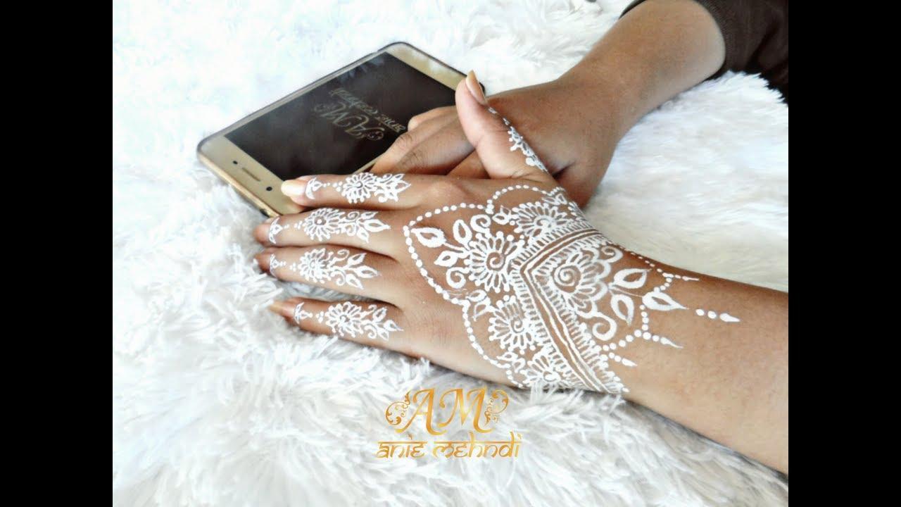 Simple White Henna Design For Wedding Easy Diy Henna 72 Youtube