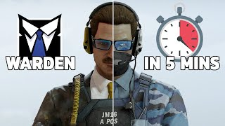 Everything Warden in 5 minutes - Rainbow Six Siege Operation Shifting Tides