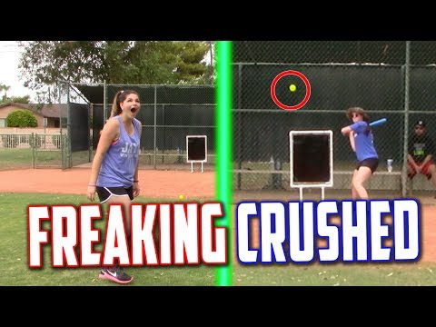 MY GIRLFRIEND HIT THE LONGEST HOME RUN EVER! Blitzball Wiffle Ball Tournament | Game 2