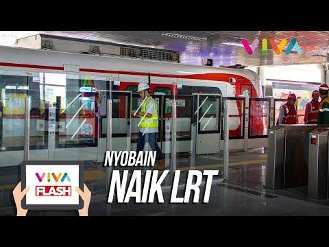 Ihiiy!! Nyobain LRT Rawamangun - Kelapa Gading