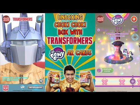 Unboxing Choki Choki Box with Transformers & My Little Pony Augmented Reality AR Cards