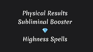 Physical Results Subliminal Booster