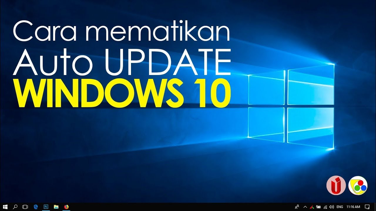 Cara cepat mematikan auto update windows 10 + video