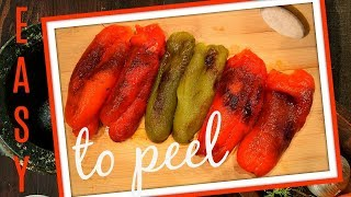 COOKING TIP - THE EASIEST WAY TO PEEL BELL PEPPERS - PEELING PEPPERS MADE EASY