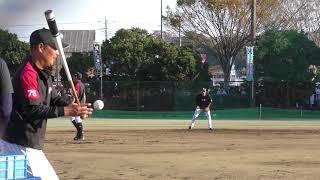 鴨川キャンプ 3塁 香月・細谷選手 ショート平沢選手のみのシートノック...