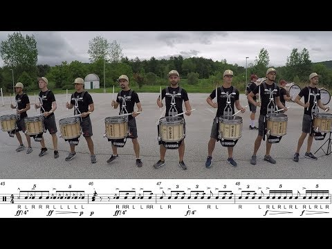2018 Boston Crusaders Snares - LEARN THE MUSIC to