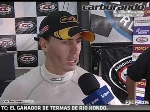 Leonel Pernia Nota Post 1er Triunfo TC en Termas de Rio Hondo