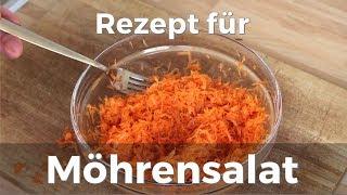 Möhrensalat zubereiten (Rezept)