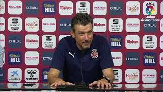 Rueda de prensa de  Juan Carlos Unzué tras el Albacete BP vs Girona FC (1-0)