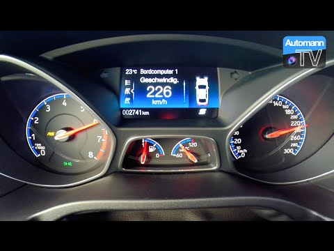 2016 Ford Focus RS (350hp) - 0-200 Km/h Acceleration (60FPS)