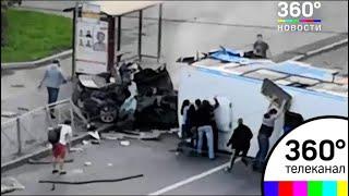 ДТП в Санкт-Петербурге: легковушка протаранила ПАЗик с пассажирами