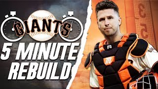 SAN FRANCISCO GIANTS 5 MINUTE REBUILD | MLB the Show 19 Franchise
