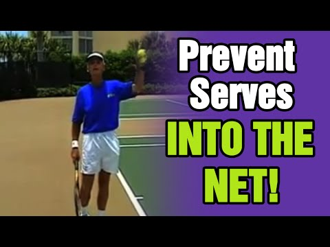 How To Prevent Serves Into The Net - Tennis Lesson With Tom Avery