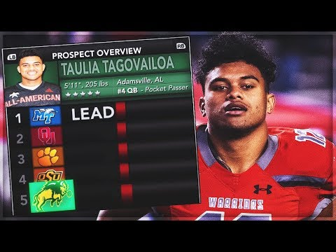 Tua Tagovailoa's 5* Brother Lists North Dakota State Bison In His Top 5! | NCAA 14 Dynasty Ep 3