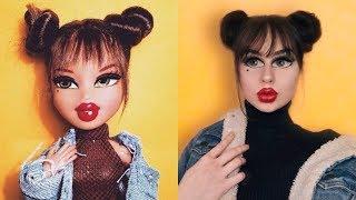 Bratz makeup challenge | Pārvēršos par lelli