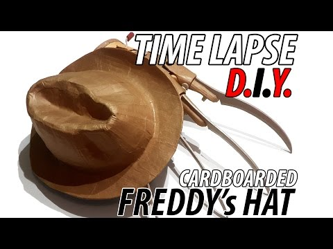 """DIY Freddy's Hat from Nightmare on Elm Street  made from Cardboard """"MUST SEE"""" Time Lapse"""