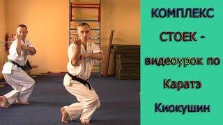 УРОКИ КАРАТЭ КИОКУШИНКАЙ - урок № 3 Стойки для тренировки координации Kyokushin Karate - stance