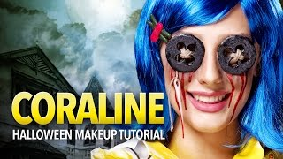Coraline cosplay makeup and prop tutorial