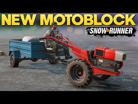 New Motoblock Two Wheel Tractor in SnowRunner - Gameplay and Overview |