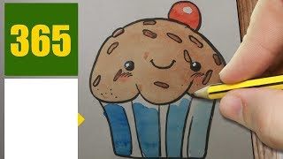 HOW TO DRAW A MUFFIN CUTE, Easy step by step drawing lessons for kids