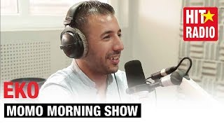 Repeat youtube video EKO DANS LE MORNING DE MOMO SUR HIT RADIO - 20/09/2013
