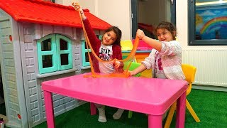 3 Colors of Glue Slime Challange, Learn Colors Slime Funny Kids Video