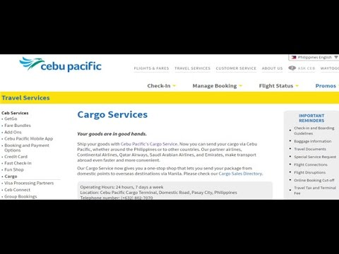Cebu Pacific Cargo Tracking,Cebu Pacific Air Cargo Tracking Status