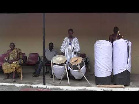 Royal Drumming Part 2. Akwasidae. Bogyawe Palace. Akwamufie. Ghana.
