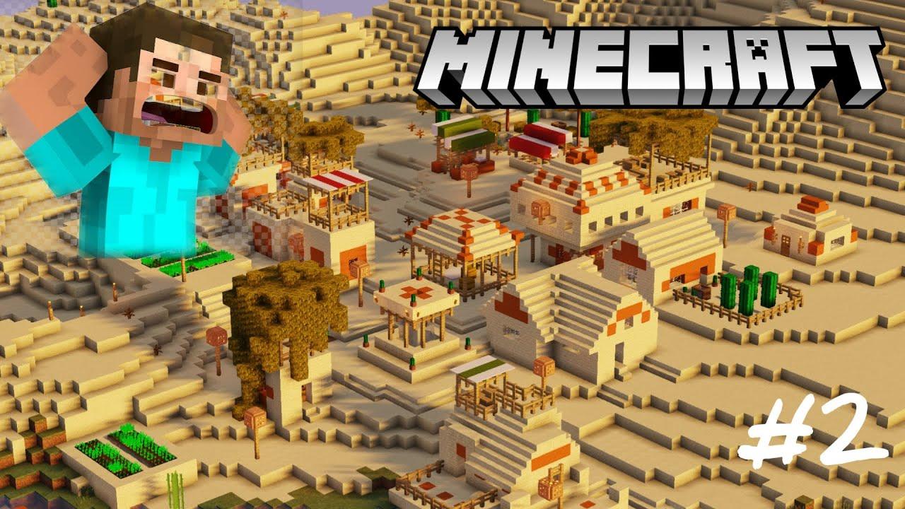 Download Best desert village in minecraft! | Gameplay#2 | Minecraft Malayalam |