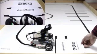Робот Lego EV3 едет по черной линии