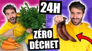 Je mange avec ZÉRO DÉCHET pendant 24h  - CARL IS COOKING