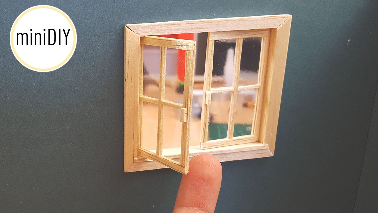 Diy Miniature Window Minidiy Youtube