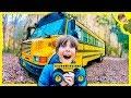 Monster Trucks Explore Abandoned School Bus