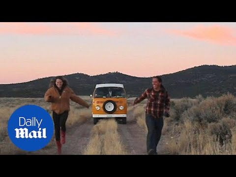 Couple ditch post-grad jobs to live in Volkswagen camper - Daily Mail