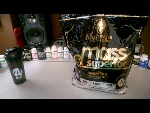 CHALLENGER NUTRITION - MASS SUPERIOR REVIEW - MASS GAINER 1,000 CALORIES