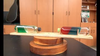 Spinning bottles--Simple centrifuge // Homemade Science with Bruce Yeany