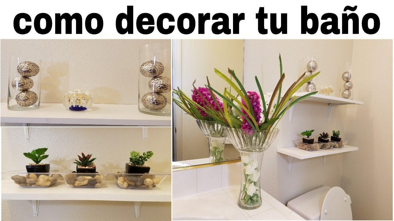 Ideas para decorar tu ba o elegante con poco dinero youtube - Ideas para decorar banos ...