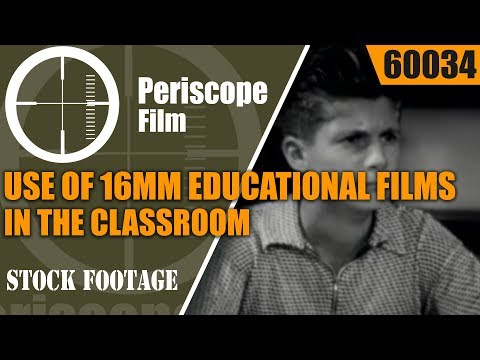 USE OF 16mm EDUCATIONAL FILMS IN THE CLASSROOM 1950s PROMOTIONAL MOVIE 60034